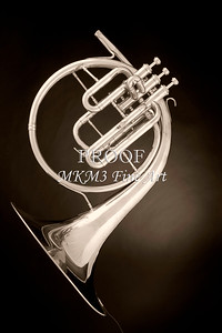 Music Art French Horn Antique 2080.26