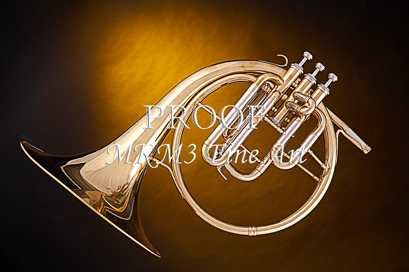 Antique French Horn on Gold 2079. 02