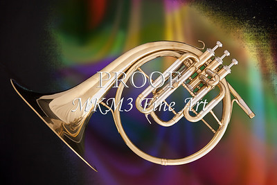 French Horn Antique Classic Wall Art 2079.08