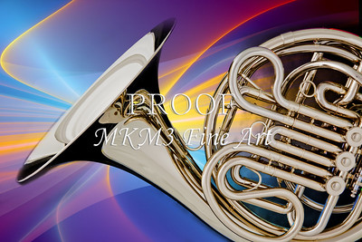 Modern French Horn Metal Wall Art 2079.16