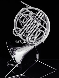 French Horn in Black and White 241.2059