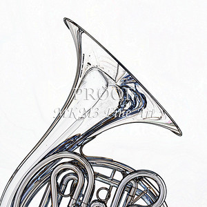 Drawing of French Horn 328.2059