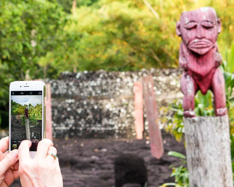 Tahiti waterfalls, Marae and sights-48