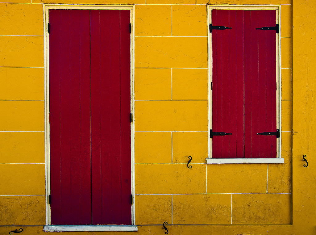 """<center><h2>' Yellow Wall '</h2> New Orleans, LA  12""""x16"""", Luster paper (12 mil) limited edition of 50</center>"""