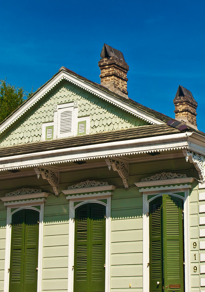 """<center><h2>' Green Shutters '</h2> New Orleans, LA  12""""x16"""", Luster paper (12 mil) limited edition of 50</center>"""