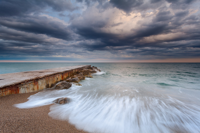 Plage de la pierre au tambour @ Villeneuve-Loubet (French Riviera)