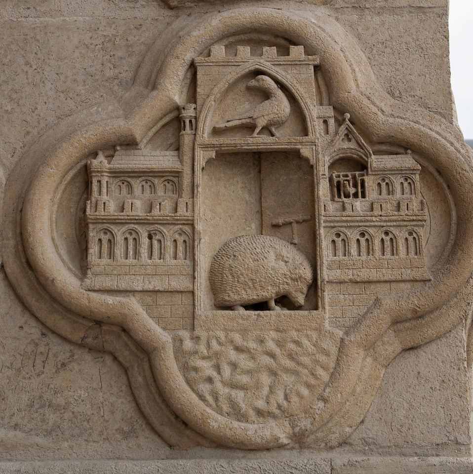 Amiens Cathedral West Facade Quatrefoil, The Hedgehog on the Threshold of Nineveh