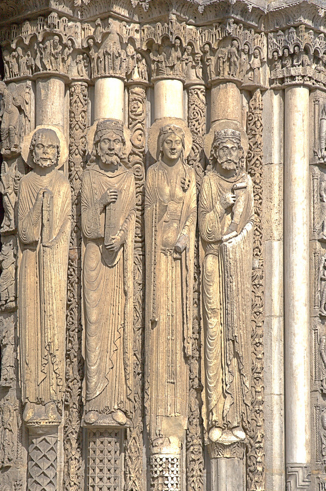 Chartres Cathedral West Facade Jamb Figures