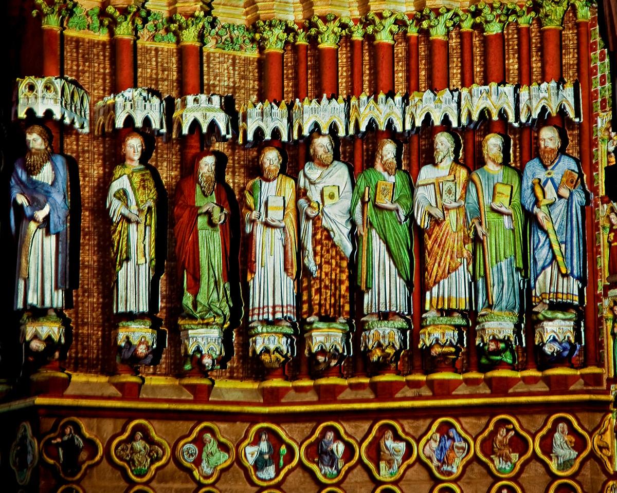 Amiens Cathedral  West Facade Apostles