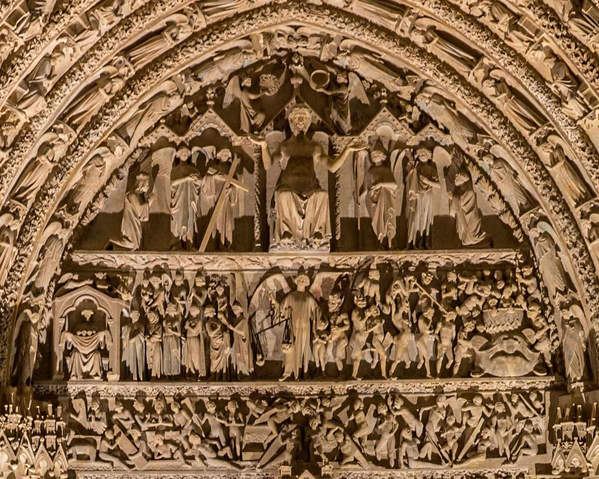 Bourges Cathedral Central  Portal, The Last Judgement