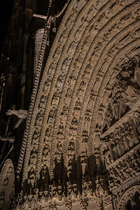 Bourges Cathedral West Facade Last Judgment  Archivolt
