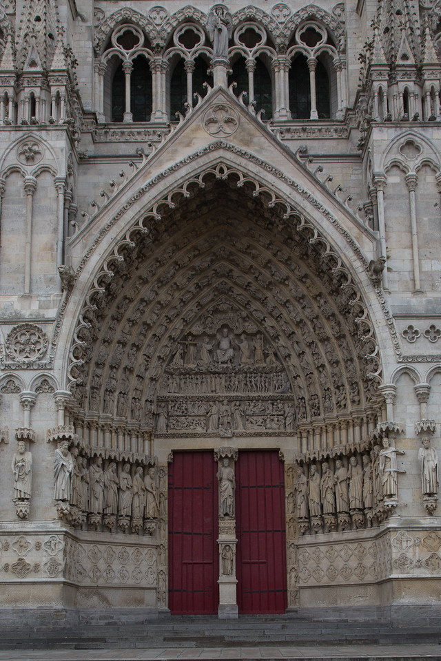Amiens Cathedral West Facade Central Portal, The Last Judgment
