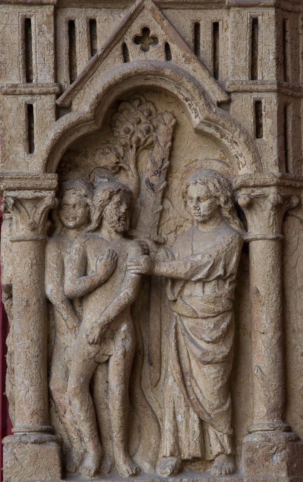 Amiens Cathedral West Facade, The Expulsion