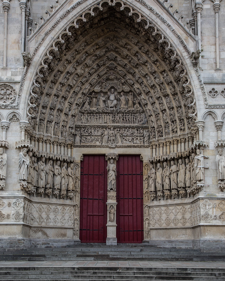 Amiens, Notre-Dame Cathedral West Facade Portal of The Last Judgment