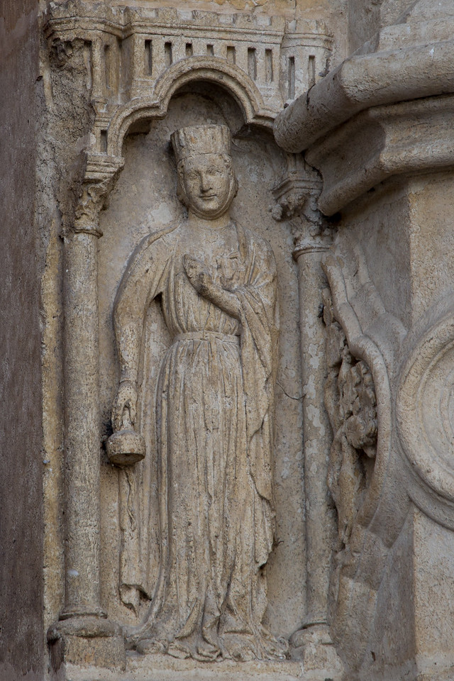 Amiens Cathedral West Facade Door Figure