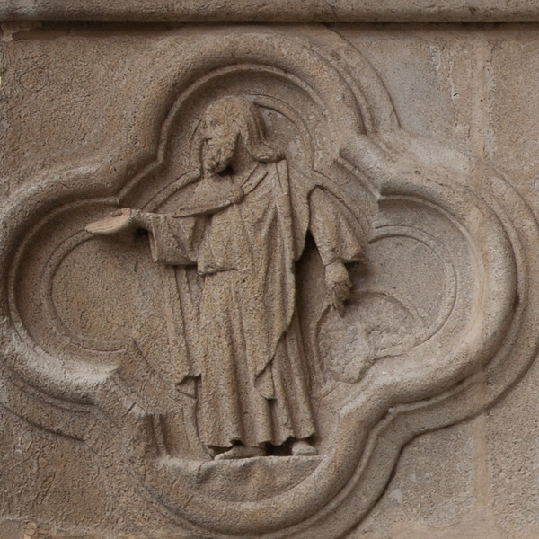 Amiens Cathedral  West Facade Quatrefoil, The Prophet Views the Ruins of Nineveh