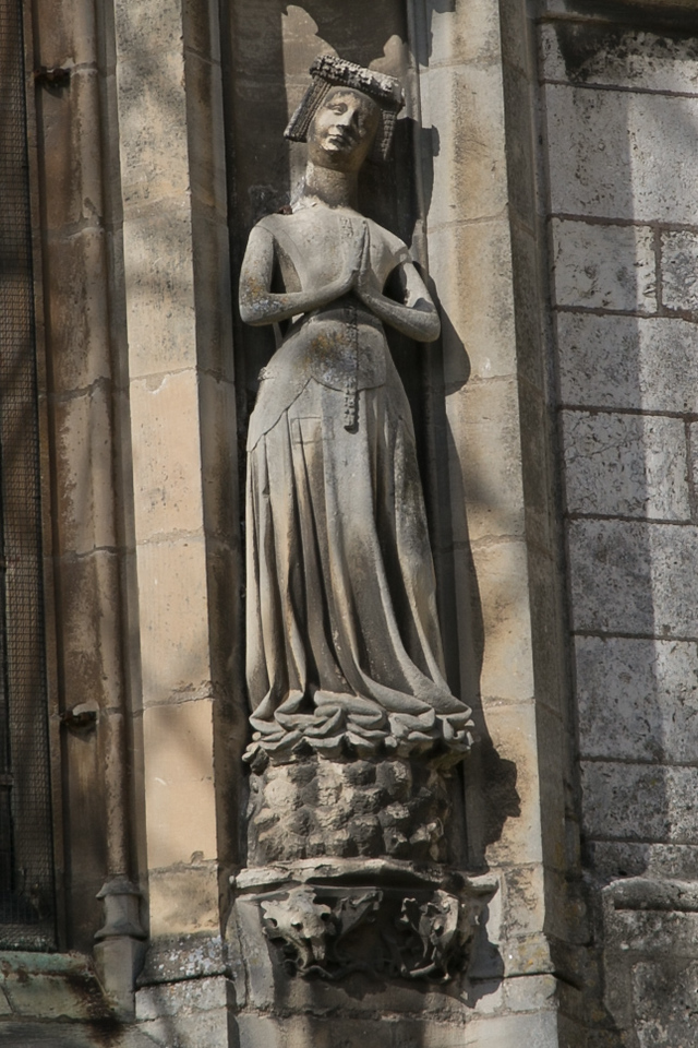 Chartres Cathedral South Flank Praying Lady