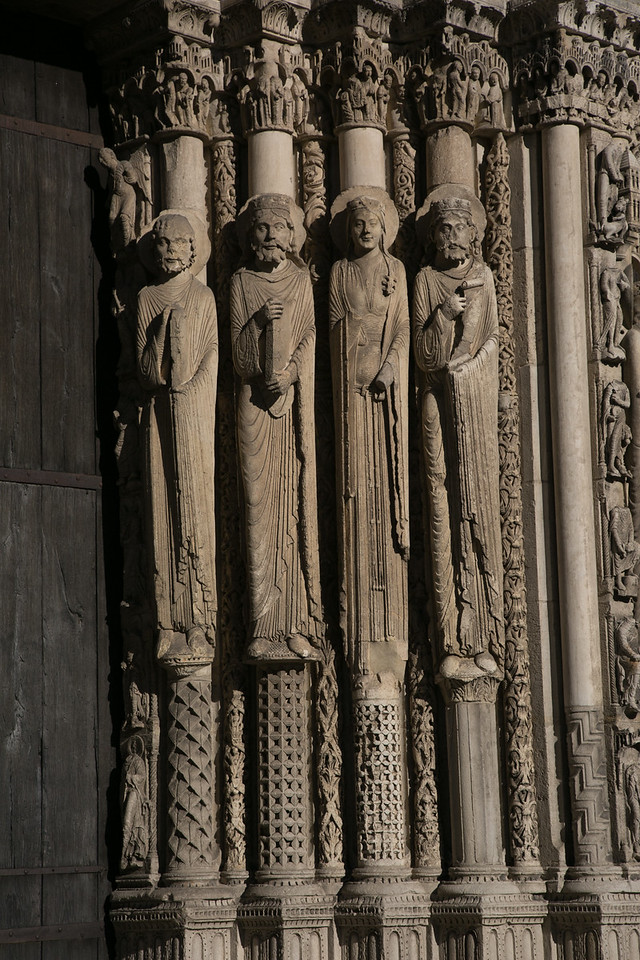 Chartres Cathedral West Facade Kings and a Queen of Judah
