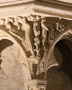 Bourges Cathedral West Facade Spandrel, Lamech.Hunting
