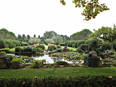The house view is of the Basin with water lilies and distant views.  It is breath taking.