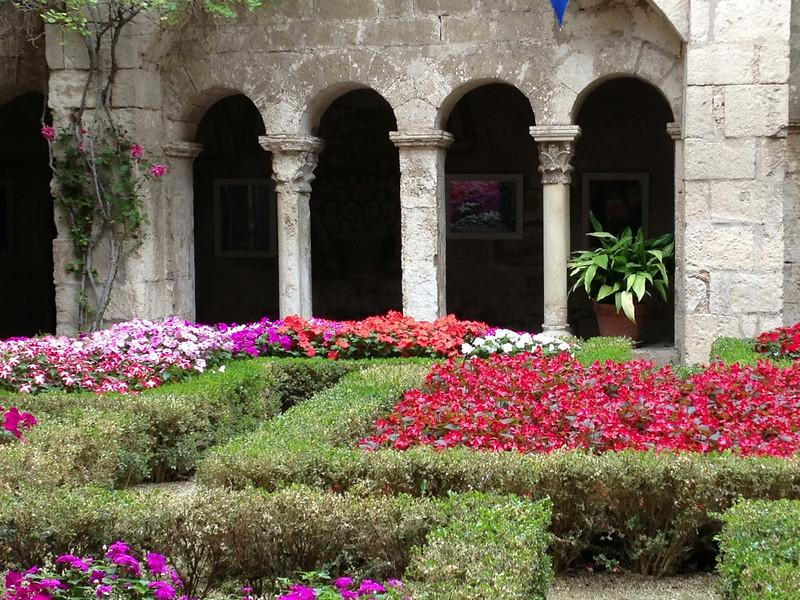 We visited the garden of the Abbey of Saint Andre in Villeneuve les Avignon.