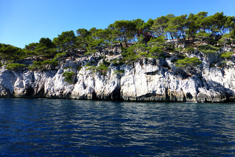 This famous geological area called The Calanques were toured by boat, but the water turned really choppy, so our time was limited.
