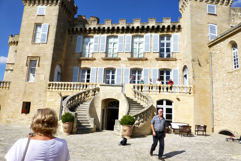 In the heart of Provence, we stopped at Chateau Barben and had lunch in the castle.