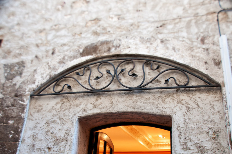 Art in Iron makes a beautiful entrance way.