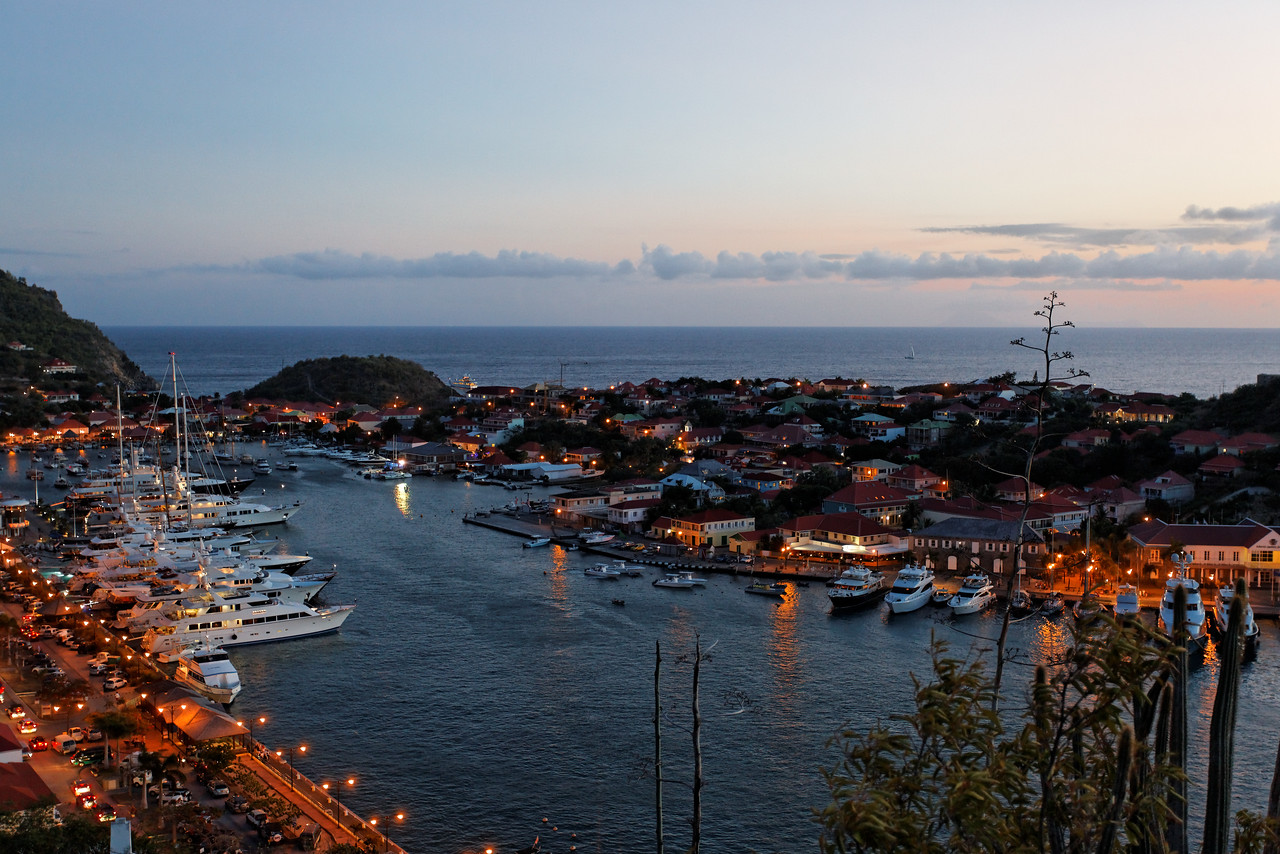 Saint Barth - Gustavia From the lighthouse, at sunset