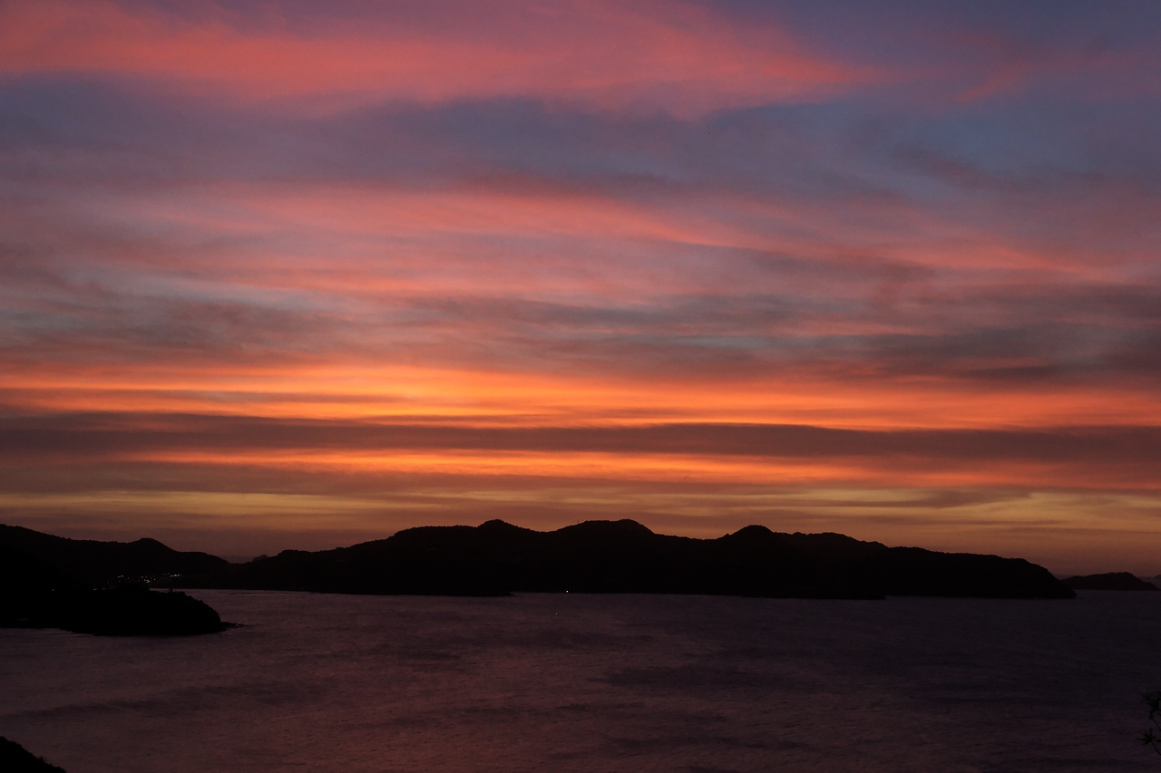 Saint Barth - Sunset From the villa L'Abricotier (DOR)
