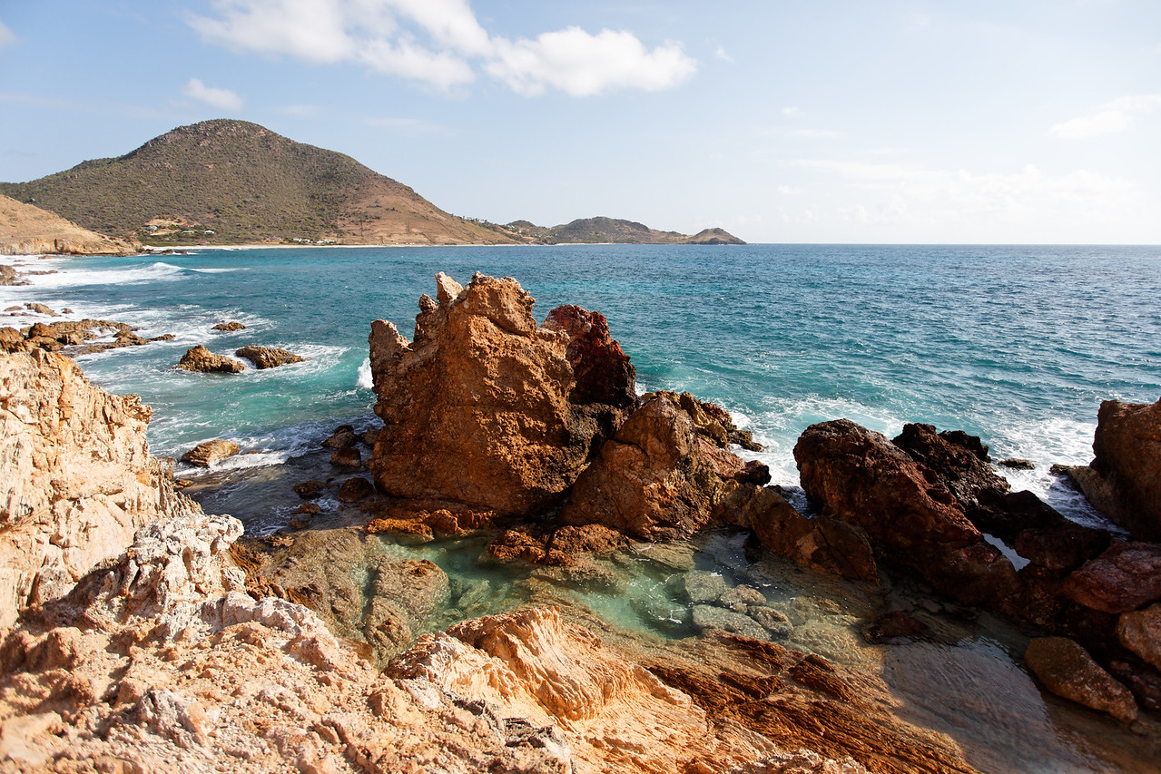 Saint Barth - Natural pools From the top