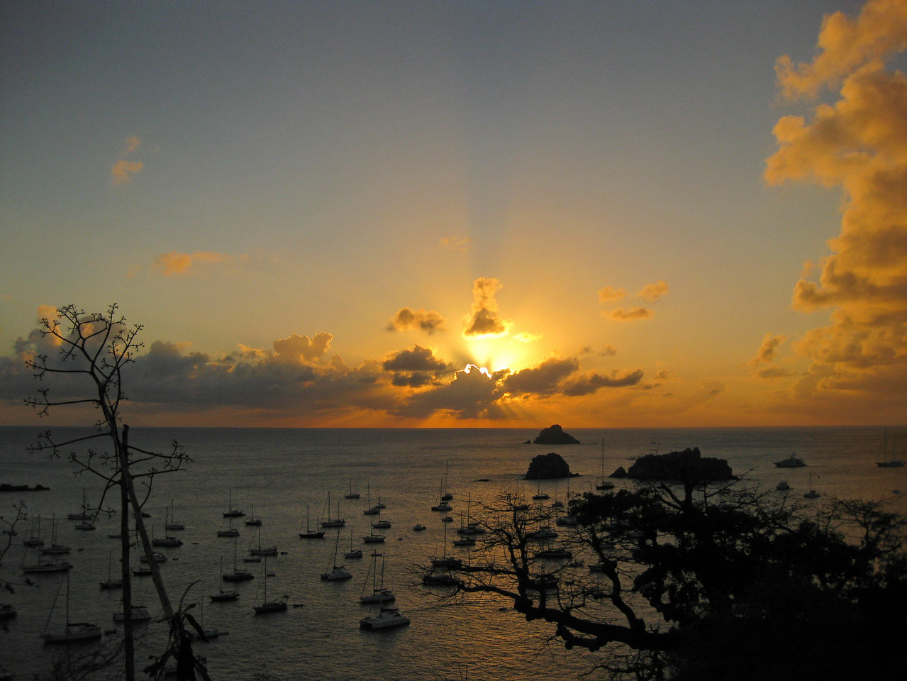 Saint Barth - Sunset From the lighthouse above Gustavia