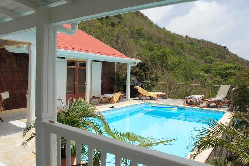 Saint Barth - Villa Anais, aka SIB AIA In Vitet, at the center of the eastern half of St. Barts, offers guests spectacular views of Grand Cul de Sac, Petit Cul de Sac, and St. Martin.