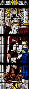 Burgundy - Moulins - Life of The Virgin Window - Saint-Anne Teaching The Virgin