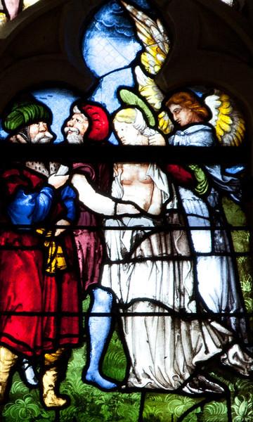 Clerey, Angel Dressing Saint Barabara