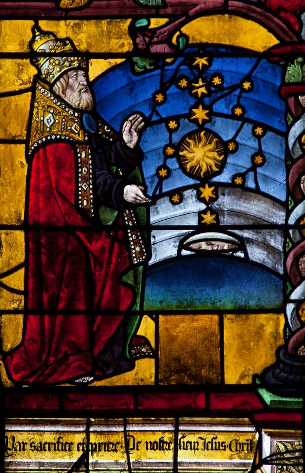 Troyes - Sainte-Madeleine Church - Scene from The Martyrdom of the Madeleine Window