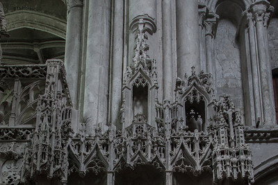 Troyes - Sainte-Madeleine Church - Choir Screen Detail