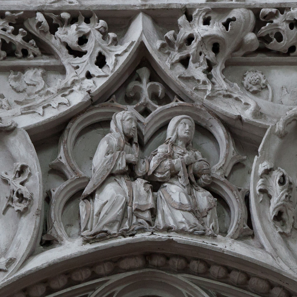 Troyes - Sainte-Madeleine Church - Choir Screen - The Virgin & Saint-Anne