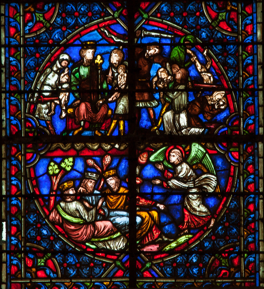 Troyes Cathedral - Angel Waking the Maji