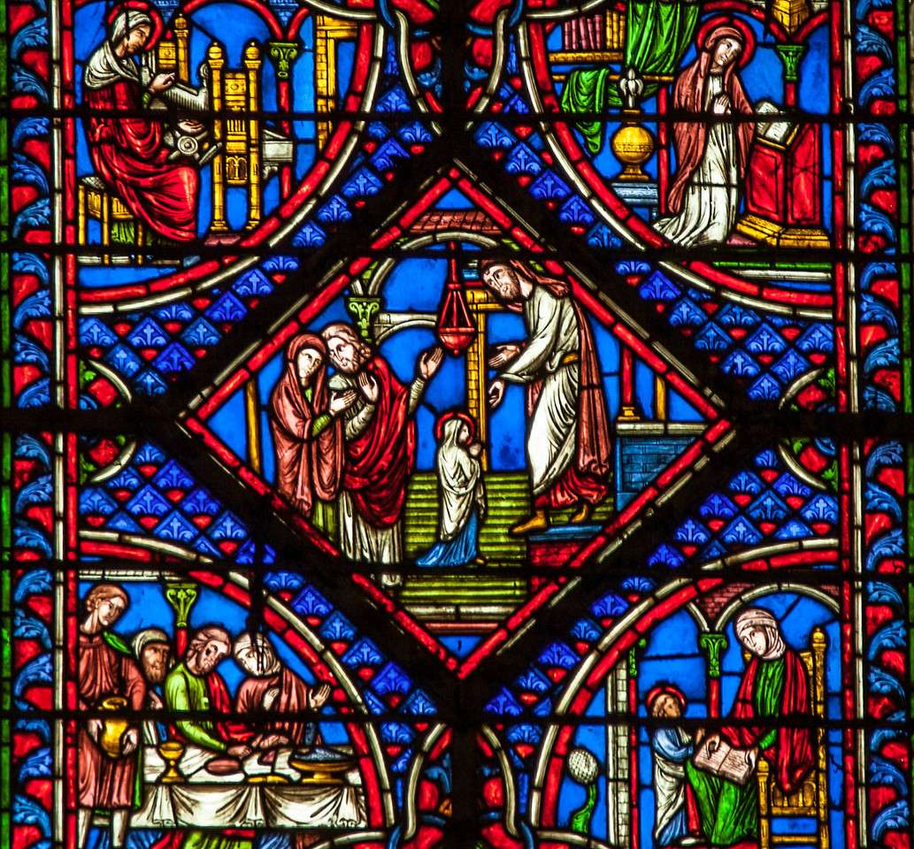 Troyes Cathedral - Early Life of The Virgin - Presentation of The Virgin in the Temple