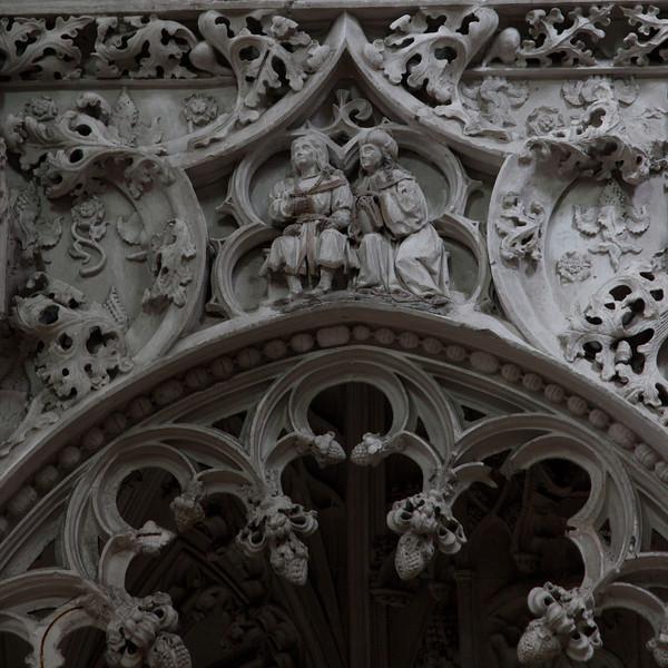 Troyes - Sainte-Madeleine Choir Screen - Two Male Figures