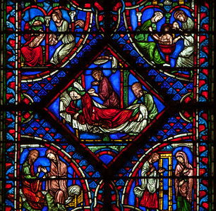 Troyes Cathedral - Early Life of The Virgin - Bith of The Virgin