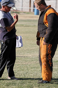 Judge Agremont and Tom Moorcroft converse during the Decoy Super Selection practical field test.  © Erin Suggett Photography 2012 All Rights Reserved