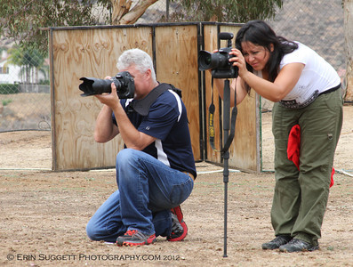 I wasn't the only one shooting - Leighton Oosthuisen & Loni Tyler.  So Cal All Breed Ringers host a French Ring Decoy Selection with  French Judge, Dominique Piton, in Riverside, CA on July 13, 2012.  © Erin Suggett Photography - 2012 All Rights Reserved