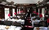 Wagon Lits dining car 4207, 5 May 2005.  The train had nine assorted coaches including this one, built in 1940 by Nivelles of Belgium.