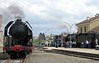 SNCF 141.R.420, Langogne, Tues 3 May 2005 - 1556.  The 2-8-2 prepares to return to Clermont Ferrand as the Mediterranean Steam Express waits for the road south to Marseilles.
