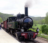 No 104, Boucieu-le-Roi, 5 May 2005 1.   No 104 is an 0-4-4-0T Mallet compound.