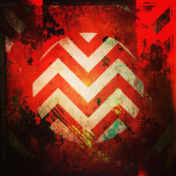 #warning #abstractart #art #red #square #circle #davedavidson