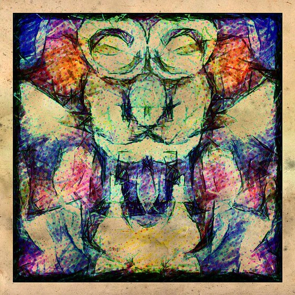 #clown #astronaut #abstractart #art #davedavidson