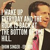 """I wake up everyday and the rock is back at the bottom of the hill."" - Thom Singer, episode 030.  #podcast #podcasts #sisyphus #motivation #motivationalquotes #hustle #solopreneur #entrepreneur #quotes #salesquotes"